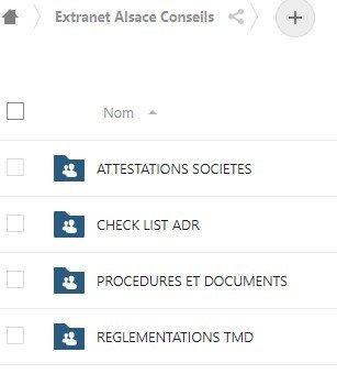 Publication de l'accès client extranet