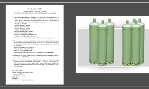 COVID-19 : Veille règlementaire ADR CLASSE 2